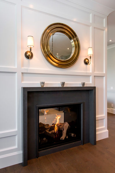 Fireplace with White Moulding