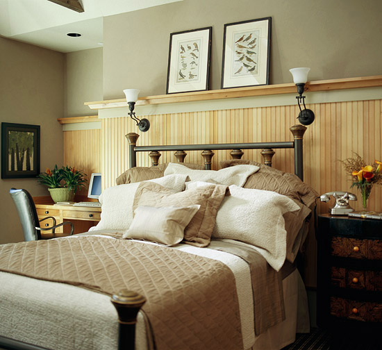 high wainscoting in bedroom better homes and gardens