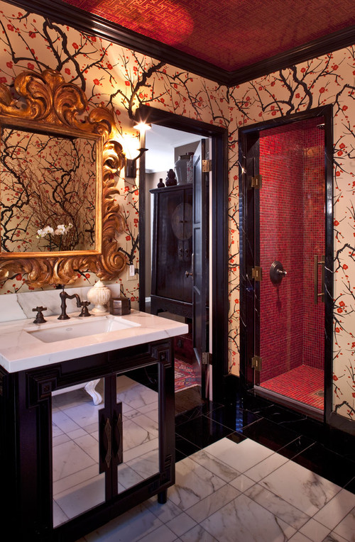 Color & Trim - Eclectic Bathroom