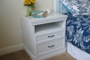 DIY Nightstand with moulding