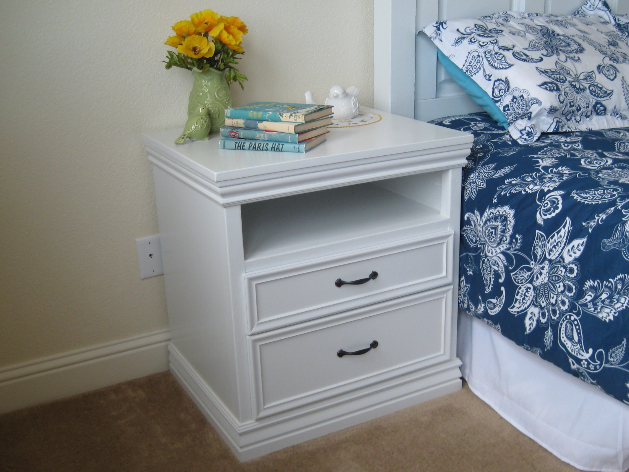 Diy Nightstand With Moulding Ana White 1 The Finished Space