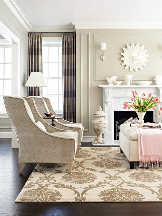 Simple Hamptons Living Room