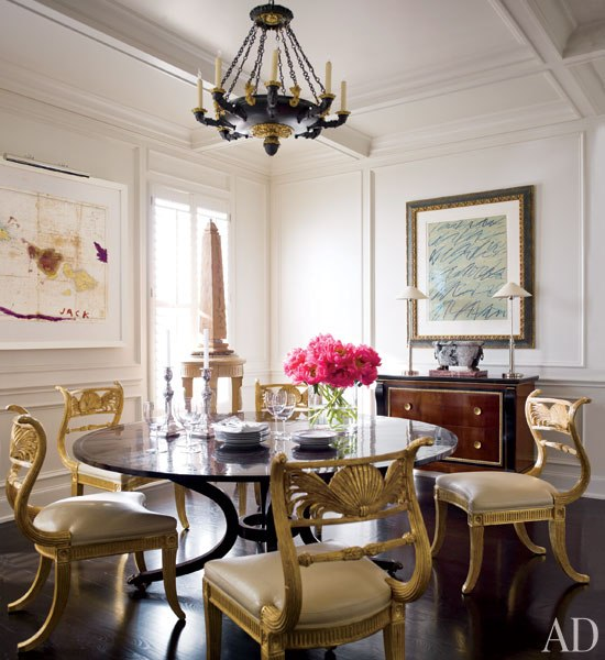 Dining room with moulding - after - Architectural Digest