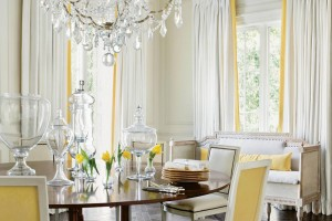 Dining room with panel & crown moulding