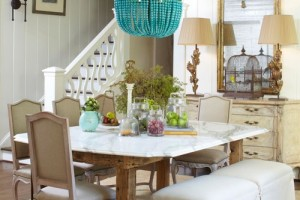 Dining room with tongue and groove