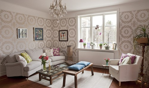 Global Style Swedish home with Trimwork