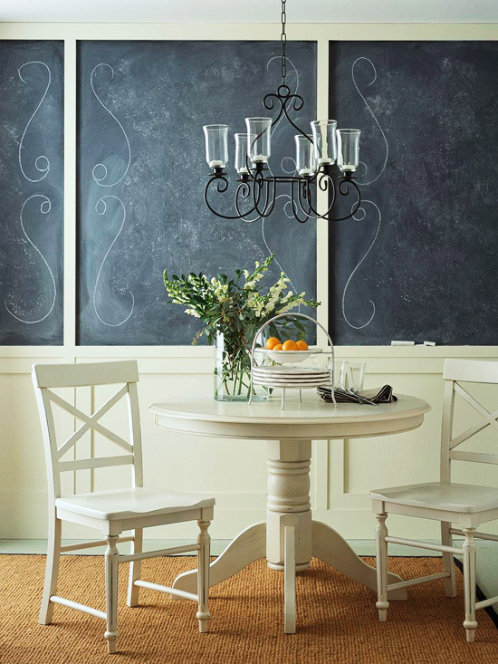 Bistro feel with wainscoting and chalkboard paint - Better Homes and Gardens