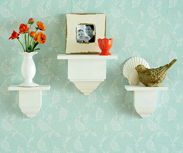 DIY mini shelves with crown moulding divider blocks - Better Homes and Gardens