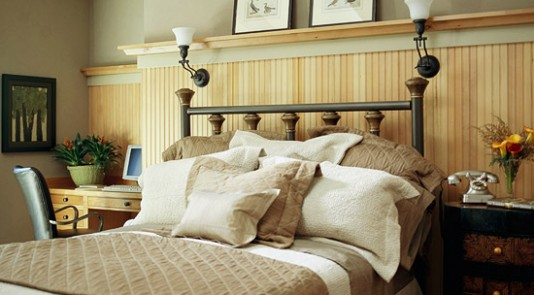 High wainscoting in bedroom - Better Homes and Gardens