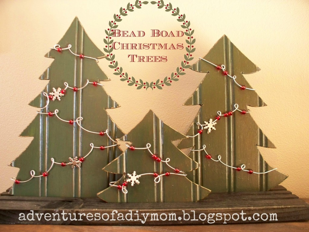 Christmas trees made out of bead board - Adventures of a DIY Mom