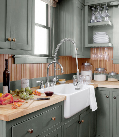 Country Kitchen Colors: Add Color To Your Kitchen Via Trimwork