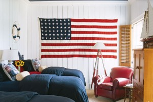 Red, White & Blue House Beautiful bedroom