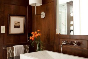 Dark wood wainscoting - Better Homes and Gardens