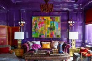 Purple Trim - Elle Decor