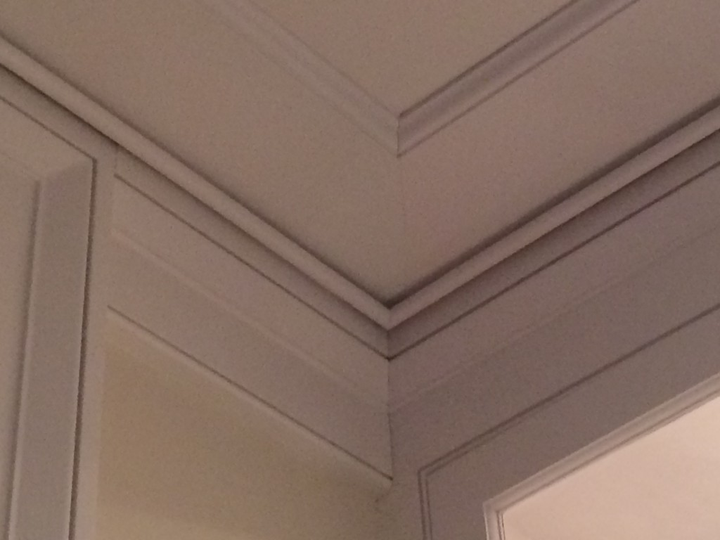 There are fabulous architectural details on this ceiling.