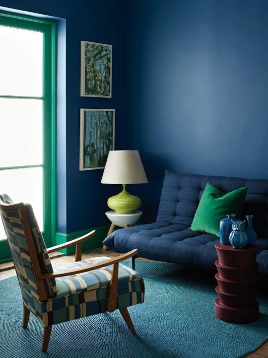 Green Trim Apartment Therapy