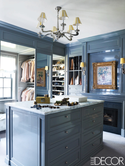 Several closets to long for with beautiful interior finishings.