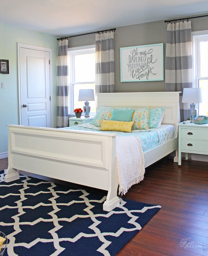 A master bedroom on a budget using trim!