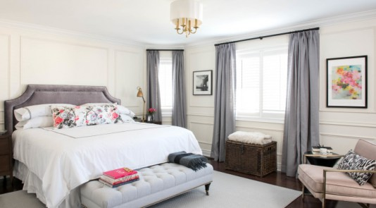 """Step into Vanessa Francis's new """"Parisian hotel room!"""" The final reveal of her One Room Challenge is here. (Vanessa Francis Design / Photography: Stephani Buchman)"""