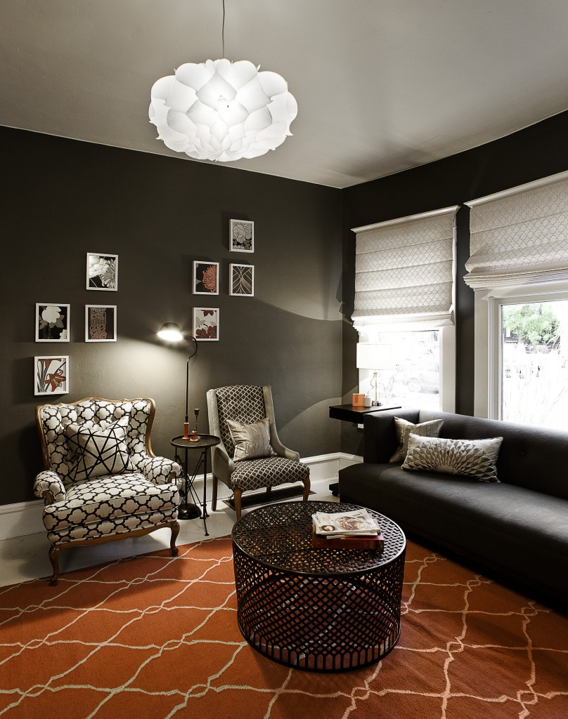 A modern vintage living room designed by Christa Pirl Furnishings & Interiors.