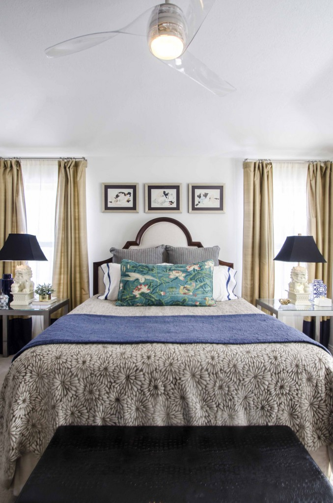 'Chinoiserie in the Mountains' a master bedroom designed by Christa Pirl Furnishings & Interiors.