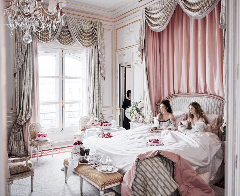 The Ritz Paris boasts opulent trimwork in its reopening. Source: Vogue