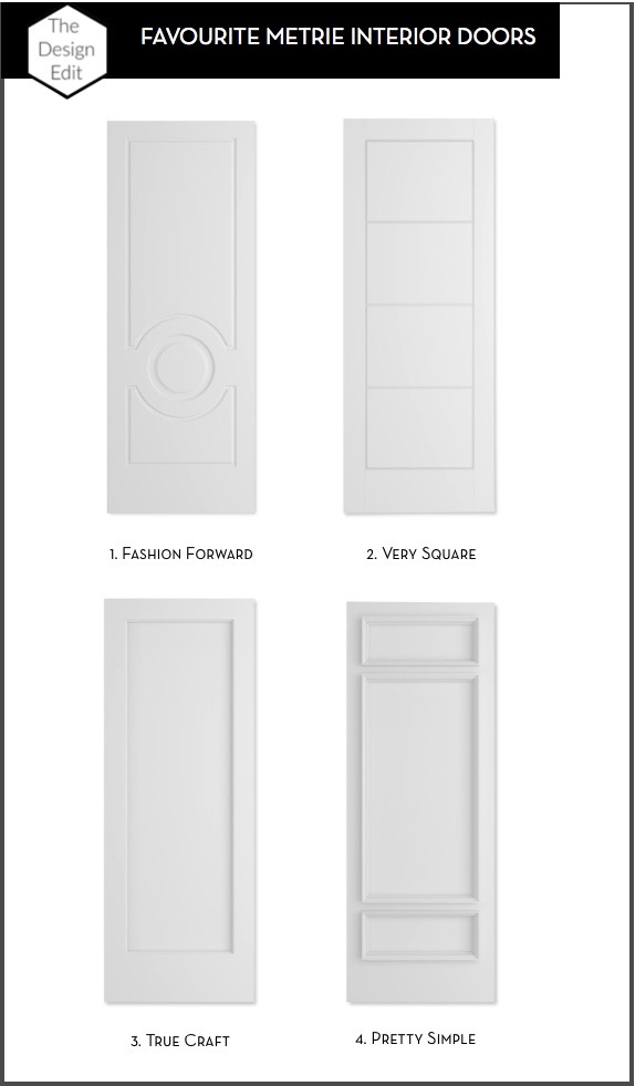 Margot Austin, of The Design Edit, picks her favourite Metrie interior doors.