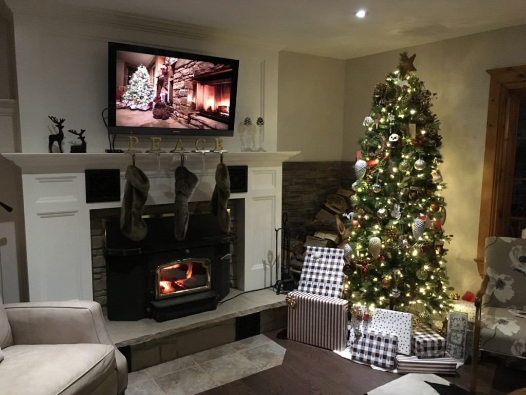 Metrie associates decorate their fireplaces for the holidays!