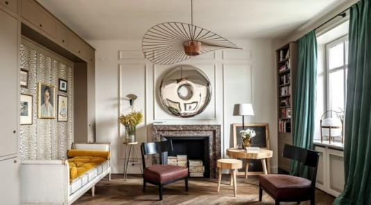 Parisian inspired apartment in Warsaw that you won't want to miss. Image Source: Vogue