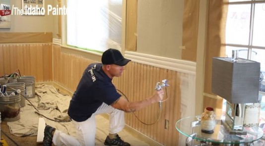 The Idaho Painter paints and installs M