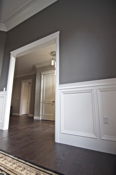 We love the use of architrave moulding in this room by Kerr's Home Products.