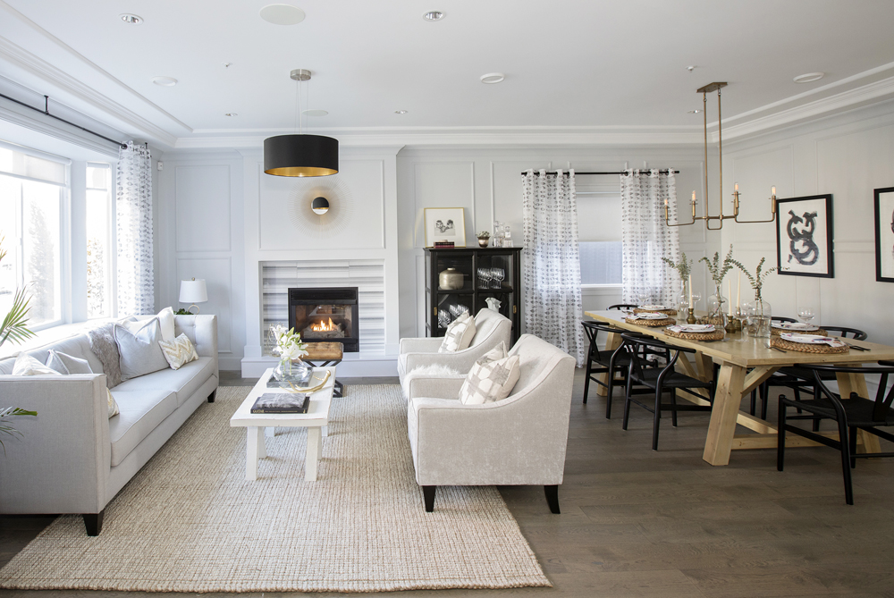 Jillian Harris redesigns a couple's home in Love It or List It Vancouver to a gorgeous, contemporary space using our Very Square Scene II Baseboard and panel mould. Image Source: HGTV Canada.