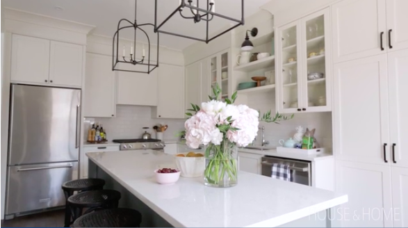 Vanessa Francis talks about Metrie's Very Square Collection trim in her transformed kitchen with House & Home. Image Source: House & Home