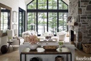 Stunning shiplap in a living space that has a view to die for!
