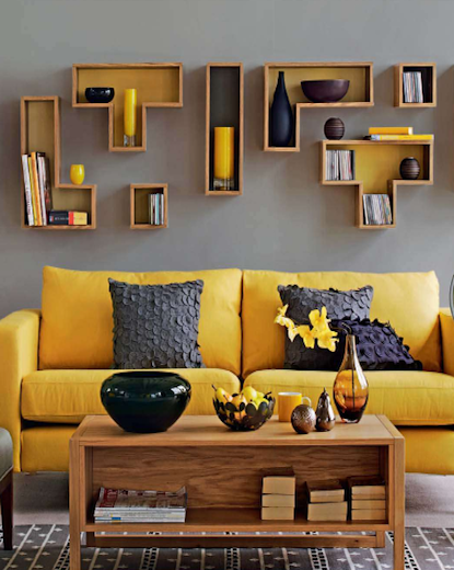 Home Shopping Spy shows how you can introduce summer hues into your space with yellow furniture and decor. Image Source: Home Shopping Spy.