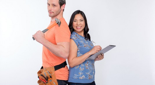Reno, Set, Go! hosts Cheryl and Roger takes on the challenge to transform deserving family member's spaces with a surprise makeover. Image Source: Discover Family Channel