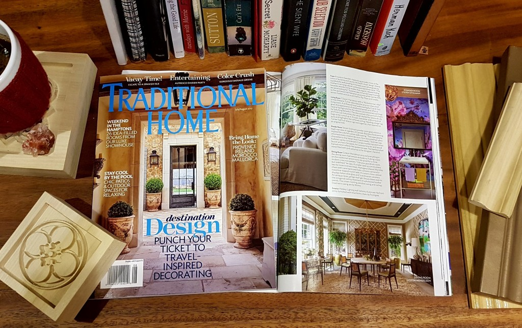 Metrie's Scene II Very Square Finishing Collection featured in the July/August issue of Traditional Home.