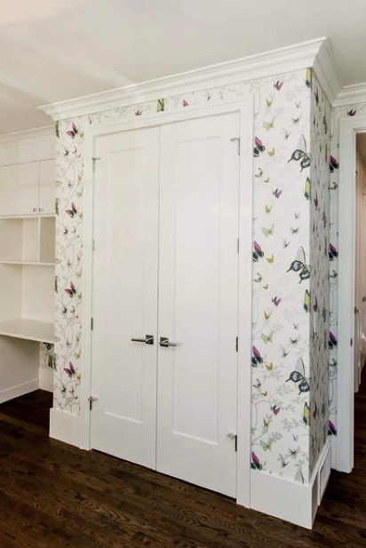 This whimsical bedroom room by Maison Design and Build showcases solid double Metrie True Craft doors.