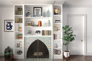 Metrie's Option {M} Bohemian fireplace.