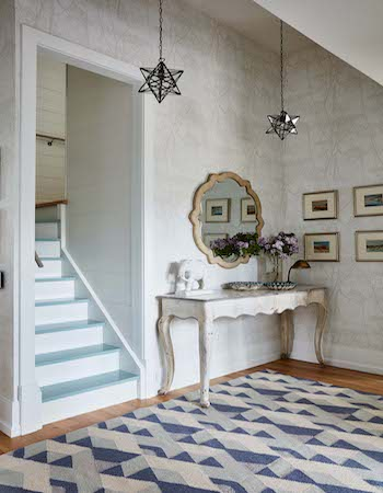 Metrie's Fashion Forward baseboard makes an appearance in Sarah Richardson's design.