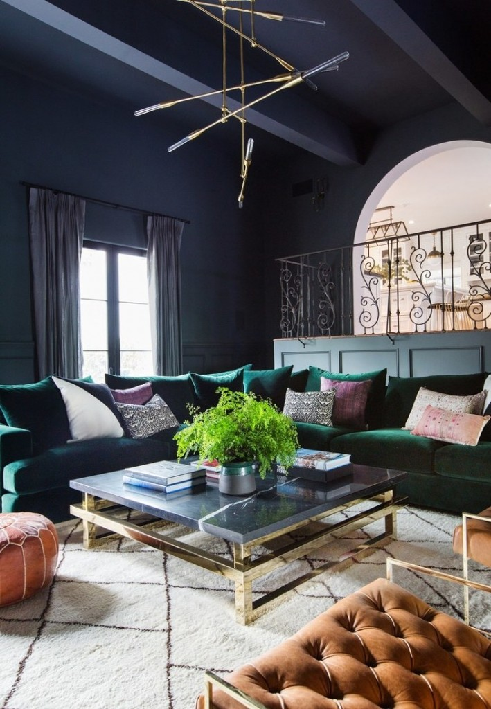 Shay Mitchell's L.A. home boasts stunning timwork. Source: Teen Vogue.