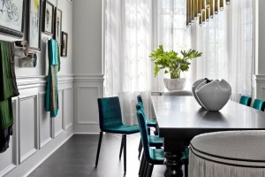 A chic and edgy home you want to get cozy in! Featuring luxe interior finishings. Source: Elle Decor