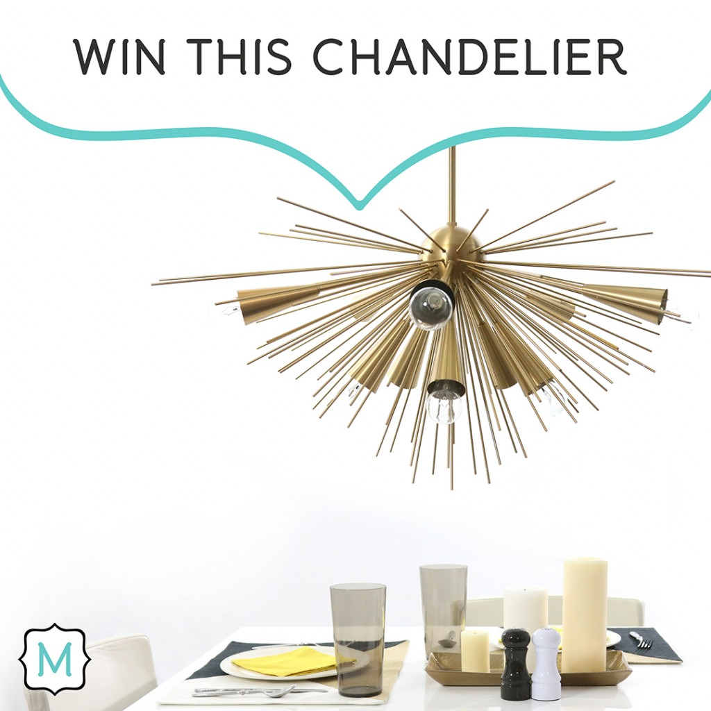 You could win this gold chandelier in Metrie's My Dream Option {M} Pinterest Contest!