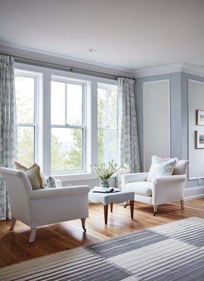 Baseboards from Metrie's Fashion Forward Collection featured in Sarah Richardson's space.