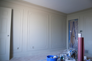 Gwen (with the help of her husband and father-in-law) laid out some amazing trim work from Metrie this week.