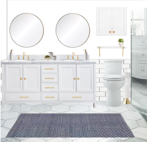 Ashley is still debating on the best bathroom design for her ORC makeover, and she's asking her readers to help her choose! Image Credit: Ashley Rose