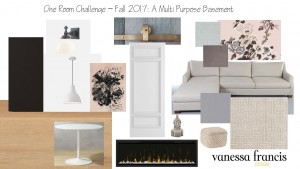 Vanessa lays out her moodboard for the multi-functional basement makeover. And we spot a very special Metrie door in the mix.