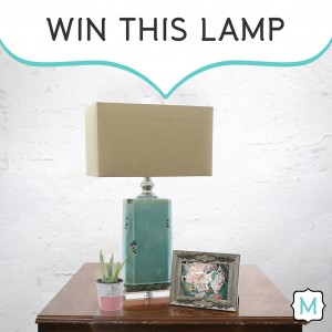 Win this lamp in the My Dream Option {M} Pinterest Contest!