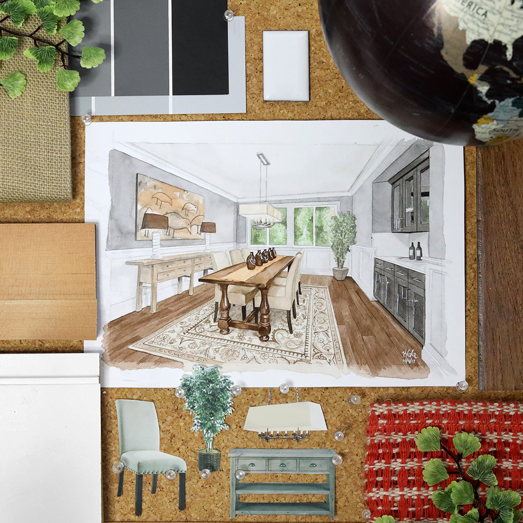 Soft palettes and rustic touches give this space a cozy feel.