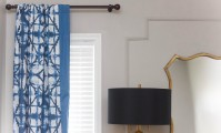 Ruthie's panel moulding serves as the perfect backdrop for her updated living room.